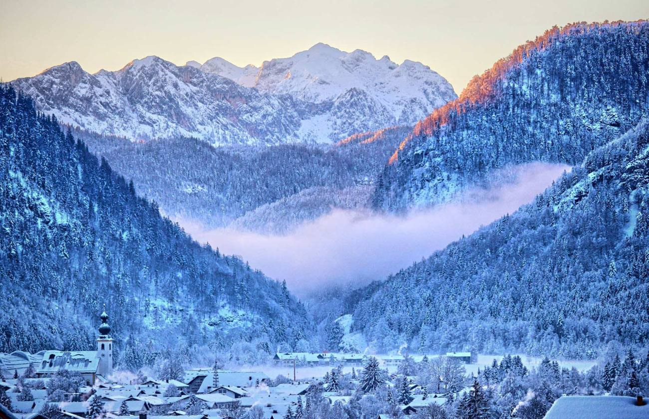 Inzell, Chiemgau im Winter