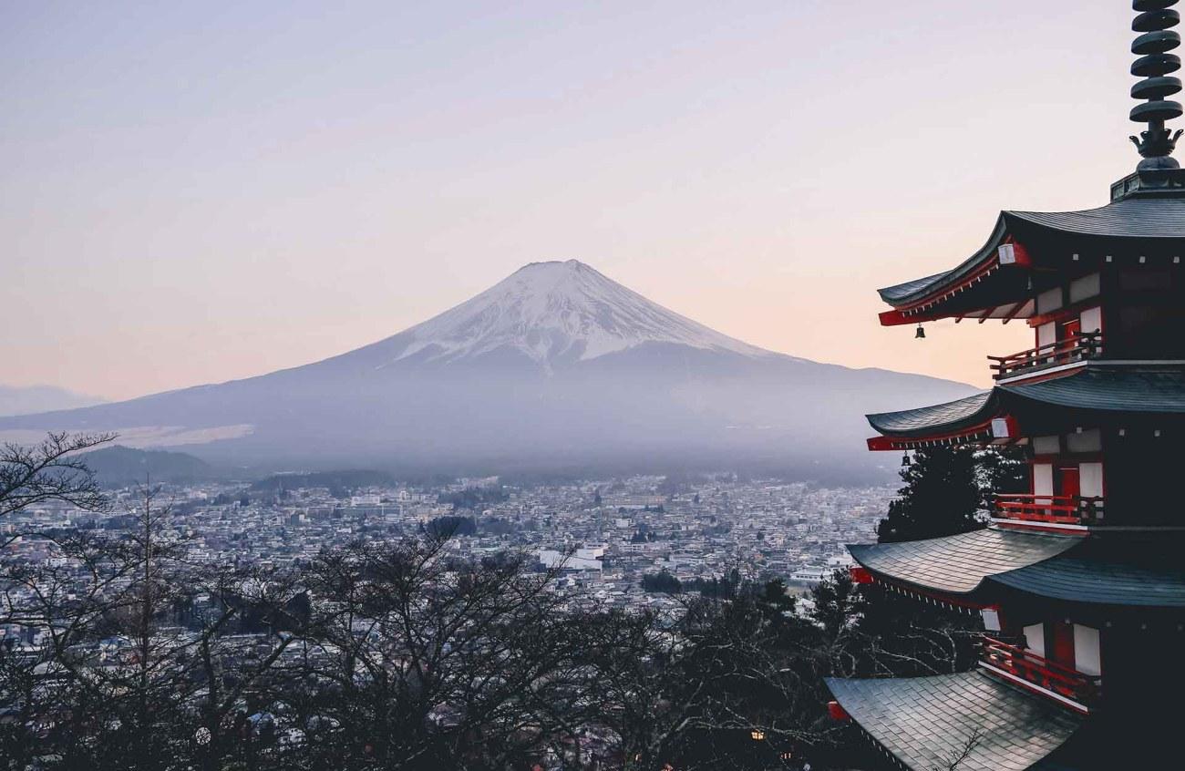 Blick auf den Mount Fuji