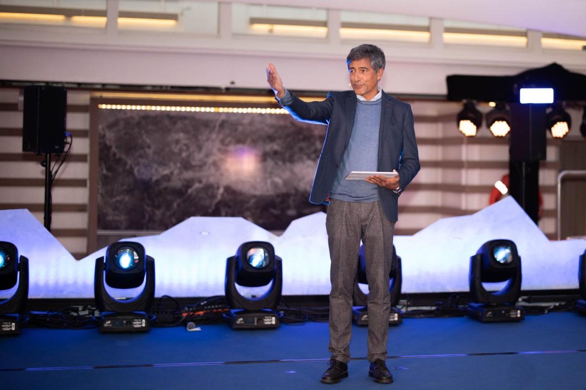 Schiffstaufe HANSEATIC inspiration, Moderation Ranga Yogeshwar