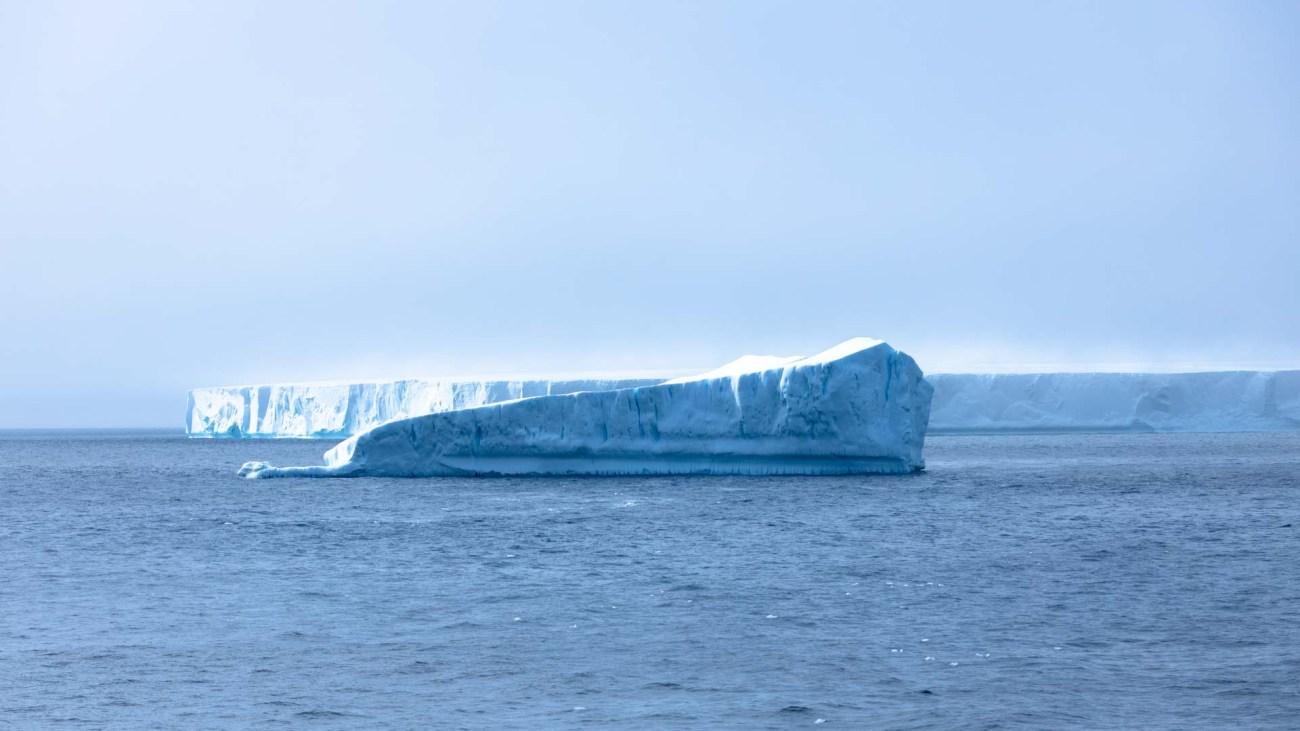 Eisberge, Brown Bluff, Antarktis
