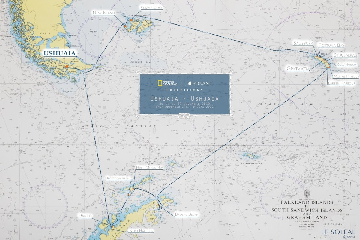 Antarktis Route, Falklands, South Georgia, Antarctic Peninsula
