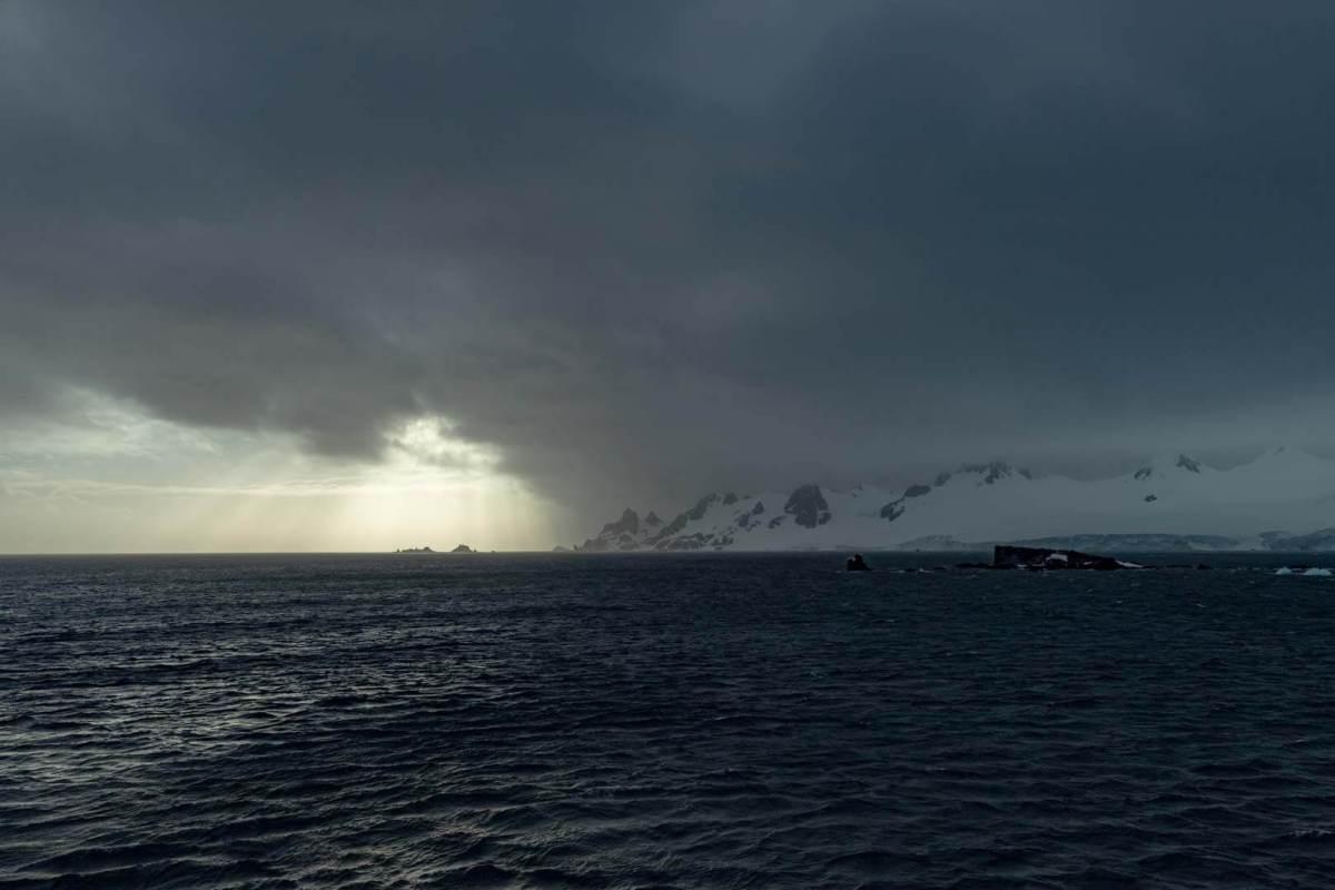 Dramatische Wetterbedingungen in der Antarktis