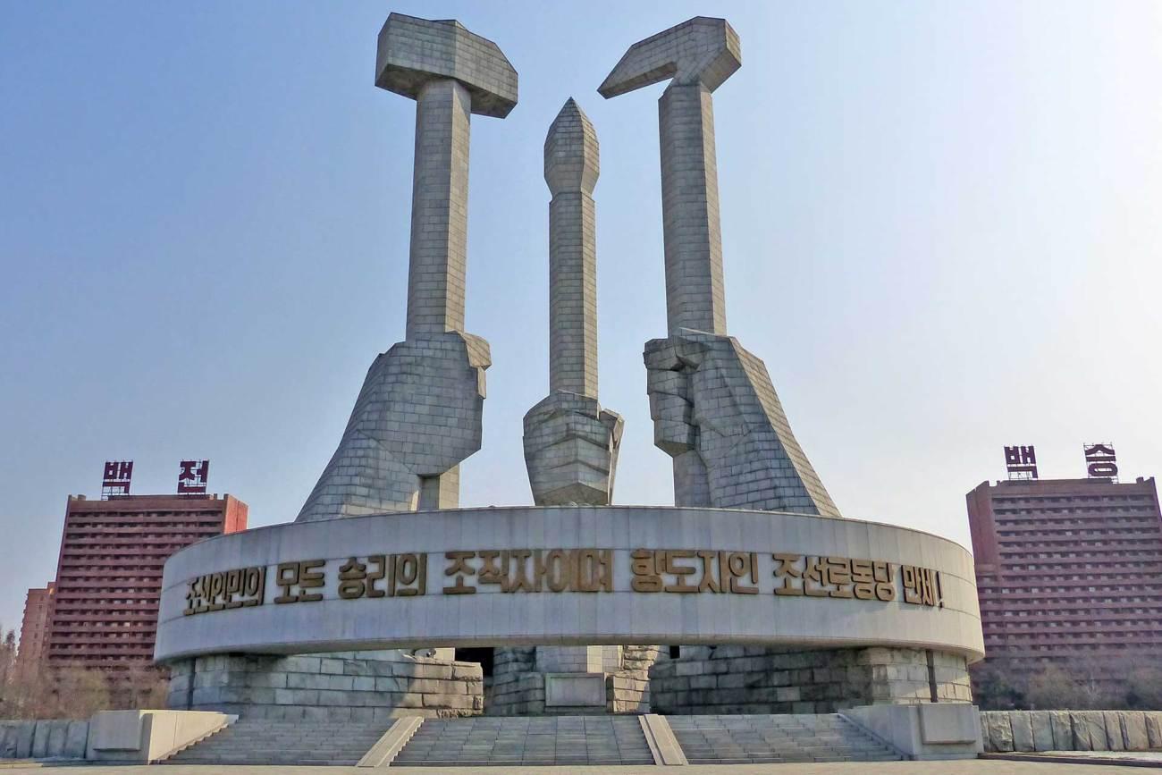 Hammer und Sichel Nordkorea