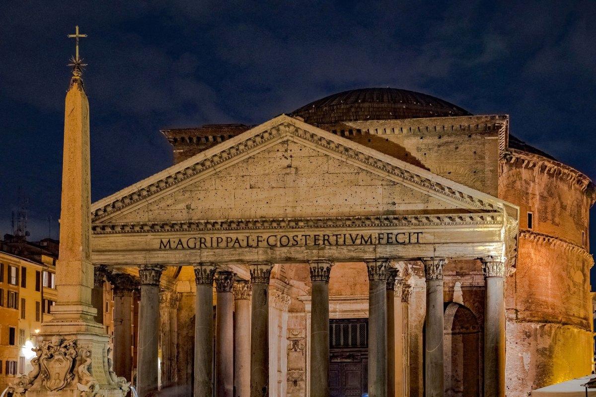 Das Pantheon in der Abenddämmerung
