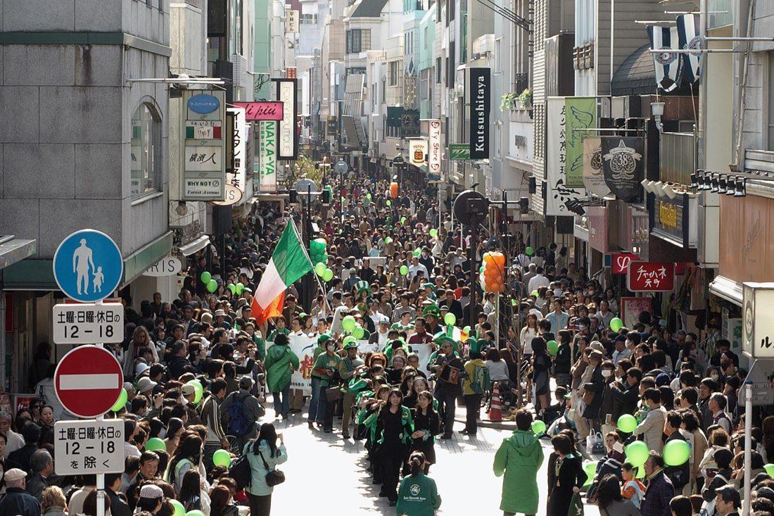 Der St. Patricks Day ist mittlerweile International - Auch in Japan gibt es Paraden