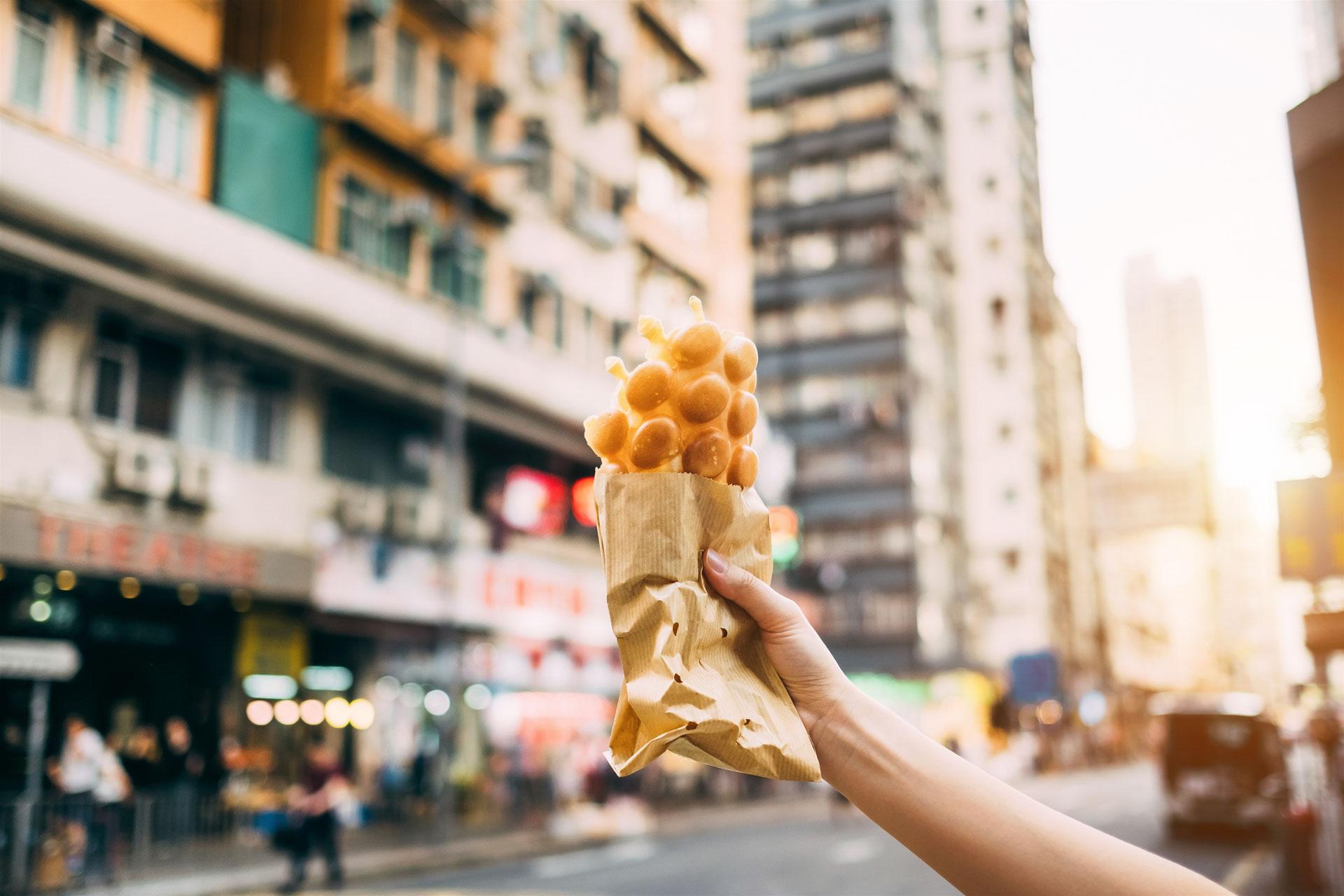 Hongkong Bubble Waffle Street Food
