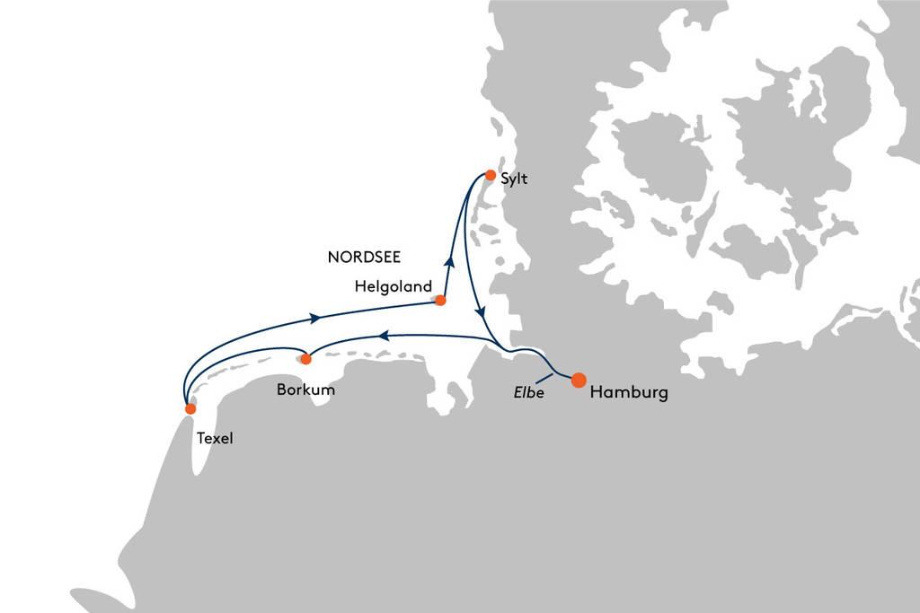 Hanseatic Spirit Route SPI2134 Friesische Inseln