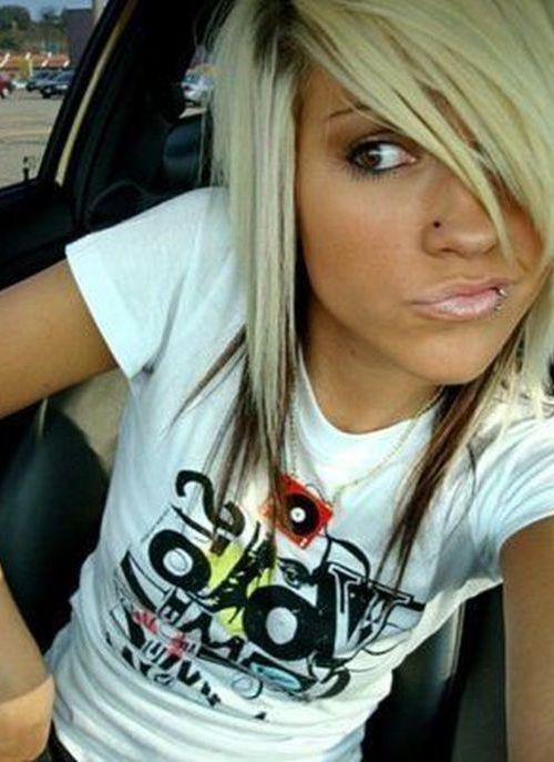Short Blonde Emo Hair