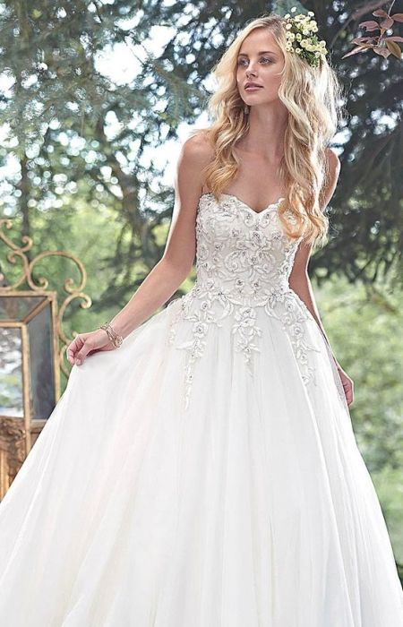 Ball Gown Low Back Wedding Dress Formal Gown Hairstyles