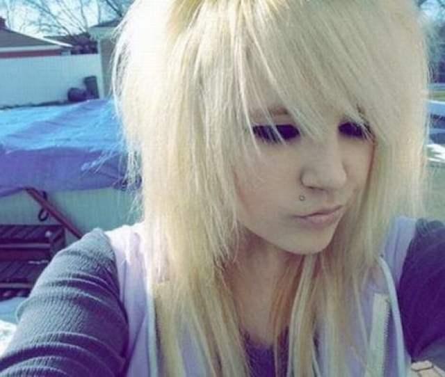 Emo Haircut Blonde Bangs