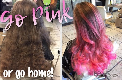 67 pink hair color