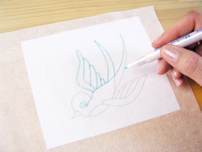 Drawing on special paper with marker pen    Betsy Sewing