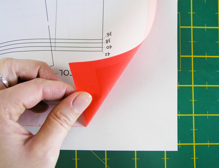 Placing carbon paper to trace patterns |  Betsy Sewing