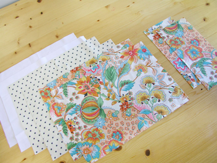 Cut pieces for tissue basket |  Betsy Sewing