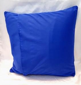 blue atheist throw pillow back