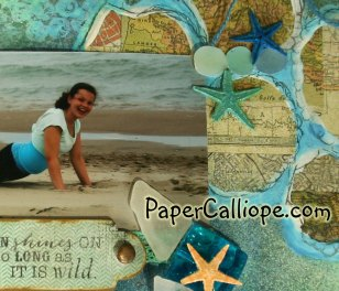 Beach beautiful is wild closeup by Paper Calliope