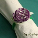 Make colorful flower napkin rings from paper bags