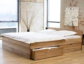 Schubkastenbett Norwegen In Massivholz Mit Viel Stauraum