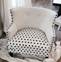 How to paint polka-dot upholstery! - Better After
