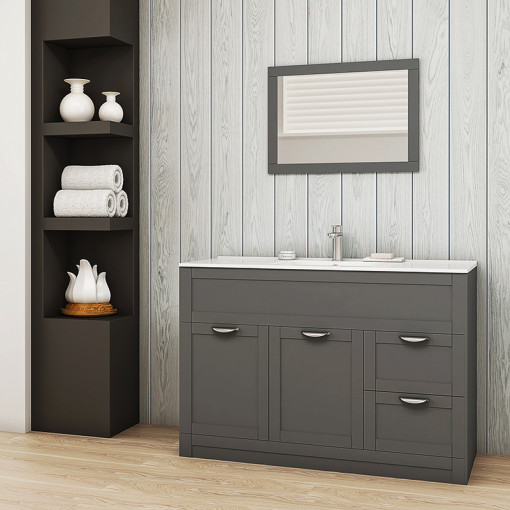 Nottingham Grey 1000 Vanity Unit