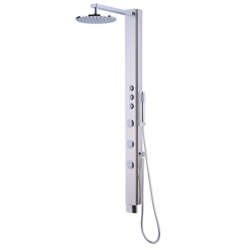Press Chrome Thermostatic Shower Tower Panel