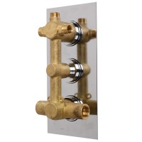 EcoS9 Concealed Triple Control Shower Valve with Diverter