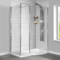1400 x 900 Walk in Enclosure Including Tray and Shower Panel
