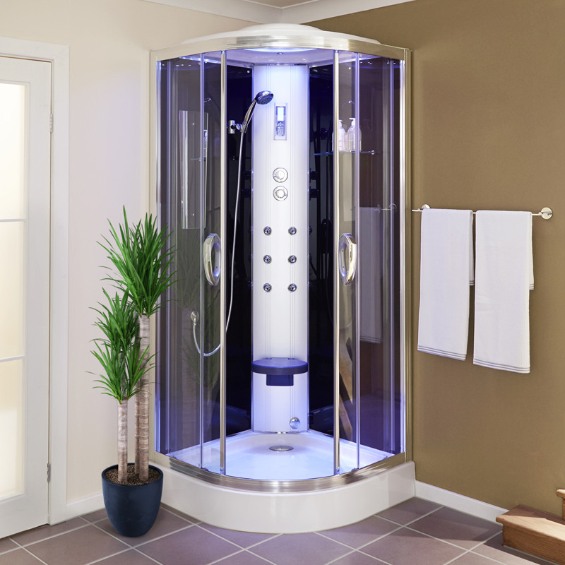 900 Quadrant Steam Shower Cabin with 6 Body Jets