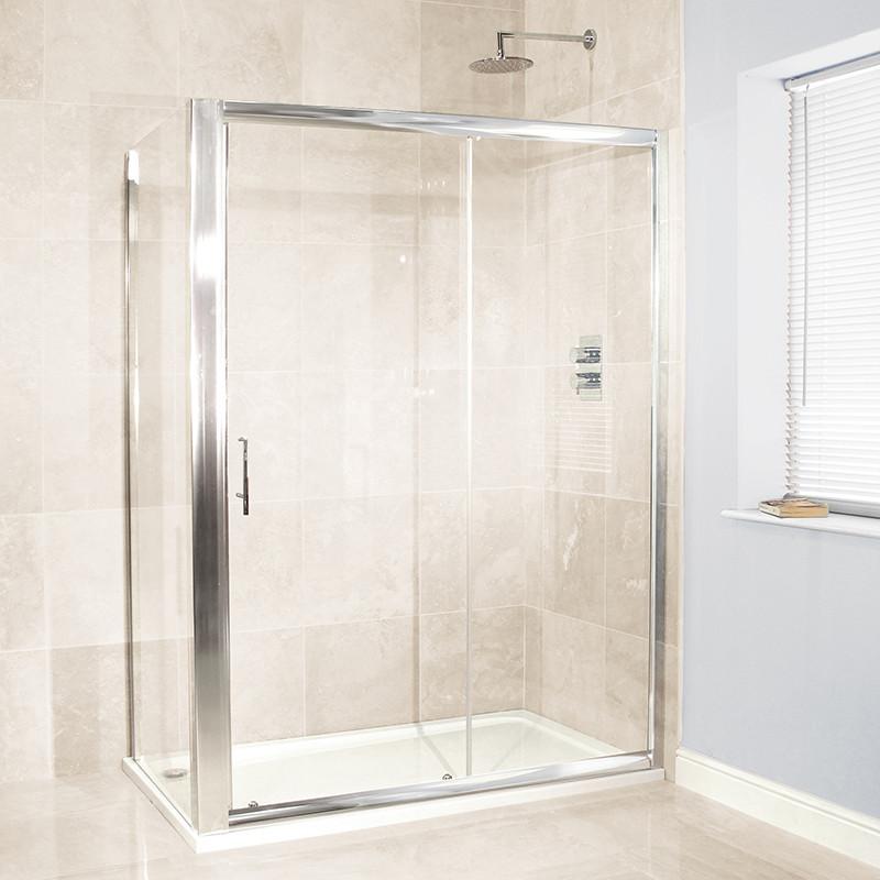 Aquafloe 6mm 1200 x 700 Sliding Door Shower Enclosure