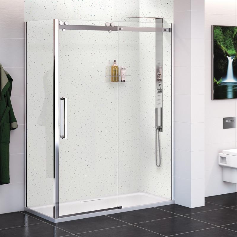 kitchen showrooms appliances set white quartz wall panel - 2400 x 1000 10mm