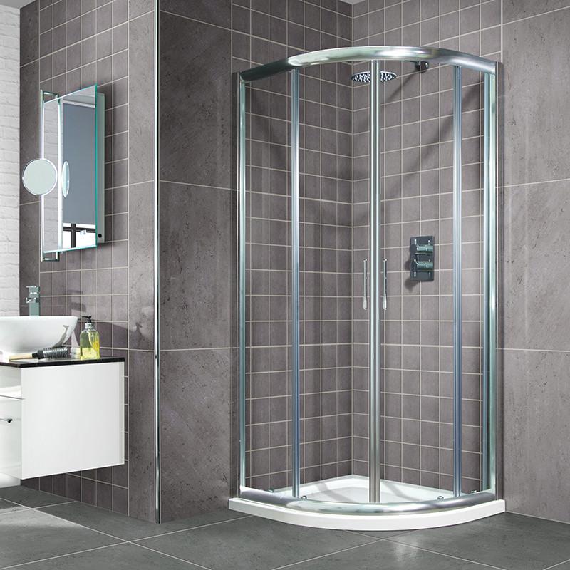 Aquafloe 900 x 900 Sliding Door Quadrant Enclosure with