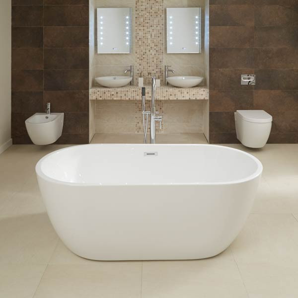 kitchen flooring tiles memory foam rugs aluna 1600 x 800mm double ended freestanding bath tub