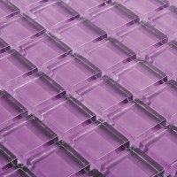 Purple Glass Wall Mosaic