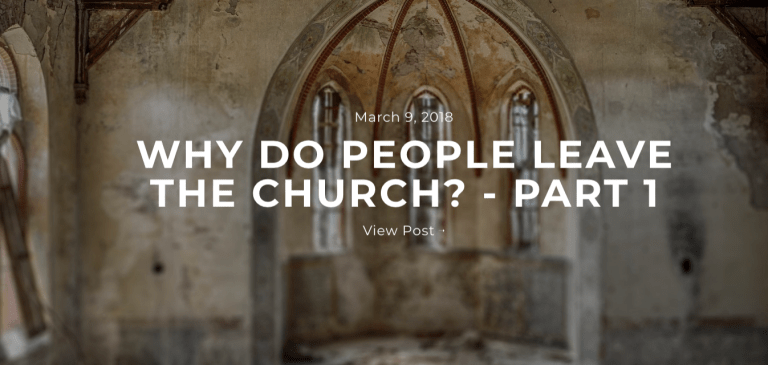 Why do People Leave the Church