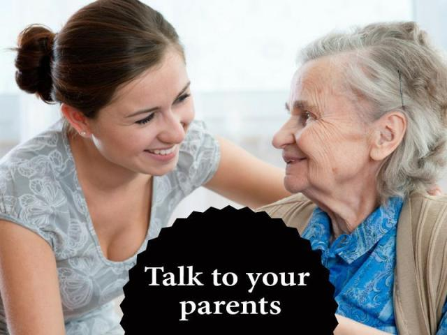 talk to parents after 30 english