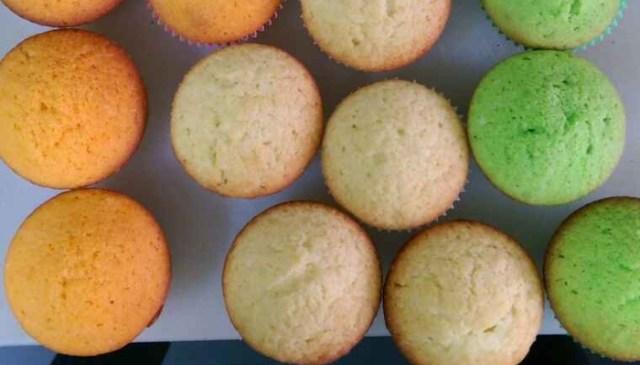 Tri Colour Cupcake