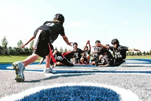 flex football kids playing