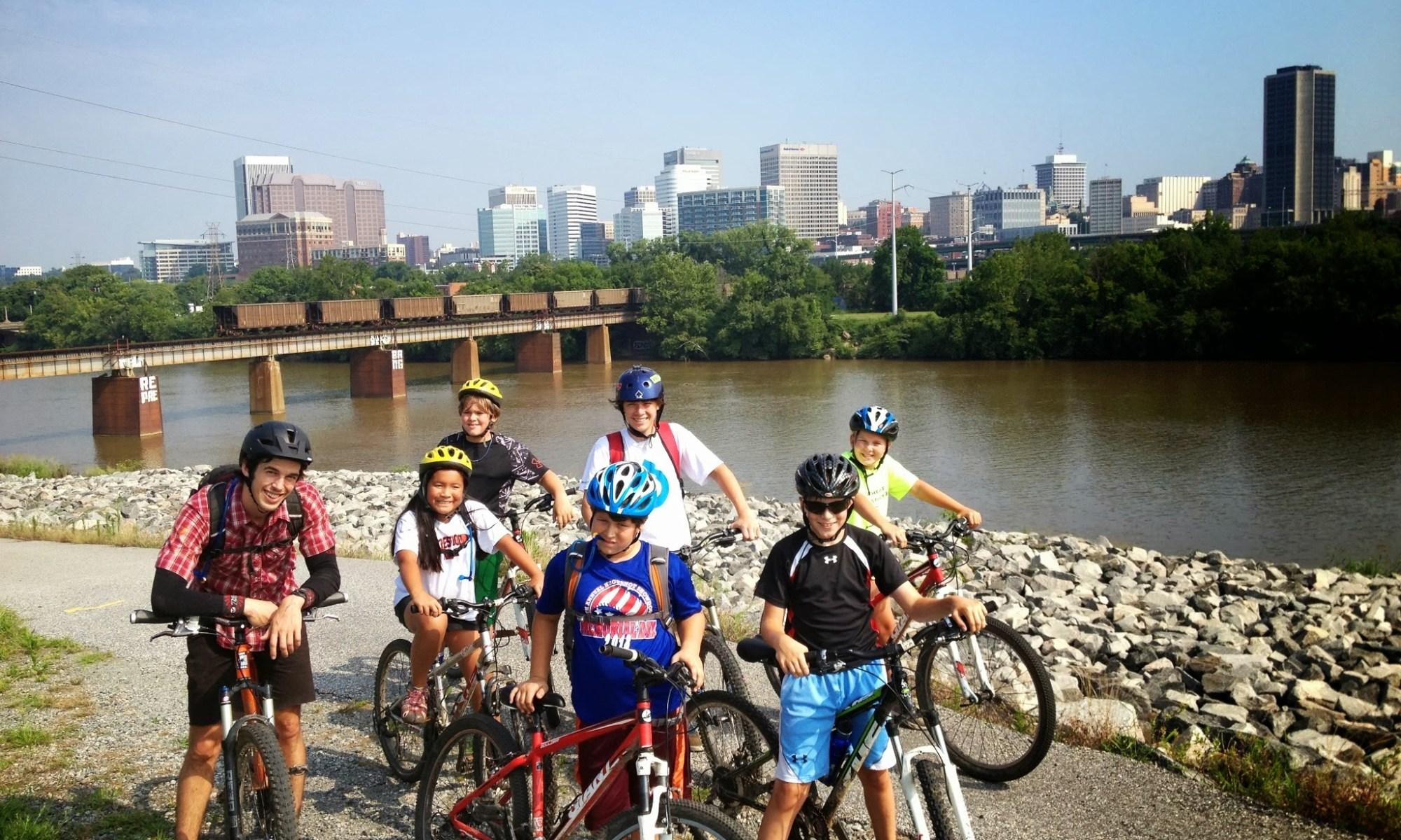 virginia outside kids riding their mountain bikes