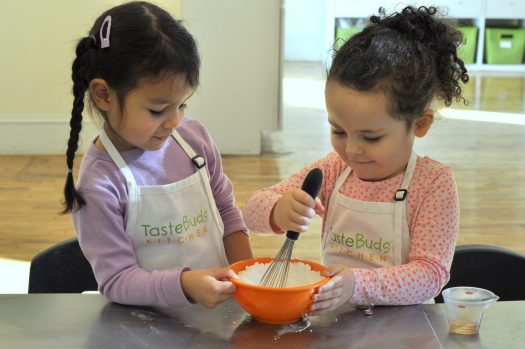 Kids learning how to cook with Camps With friends