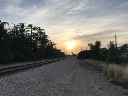 Railroad Track Sunset