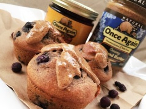 Almond blueberry Muffins - www.betterchoicenutrition.com