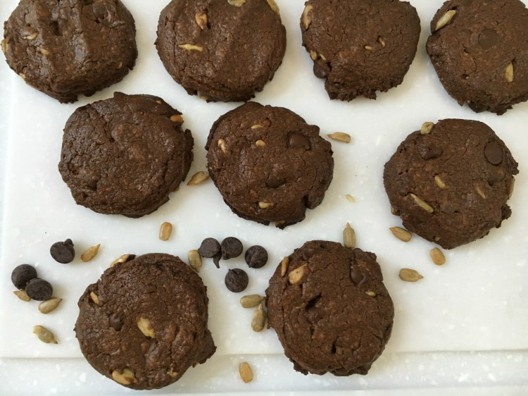 Double Chocolate Sunflower Cookies