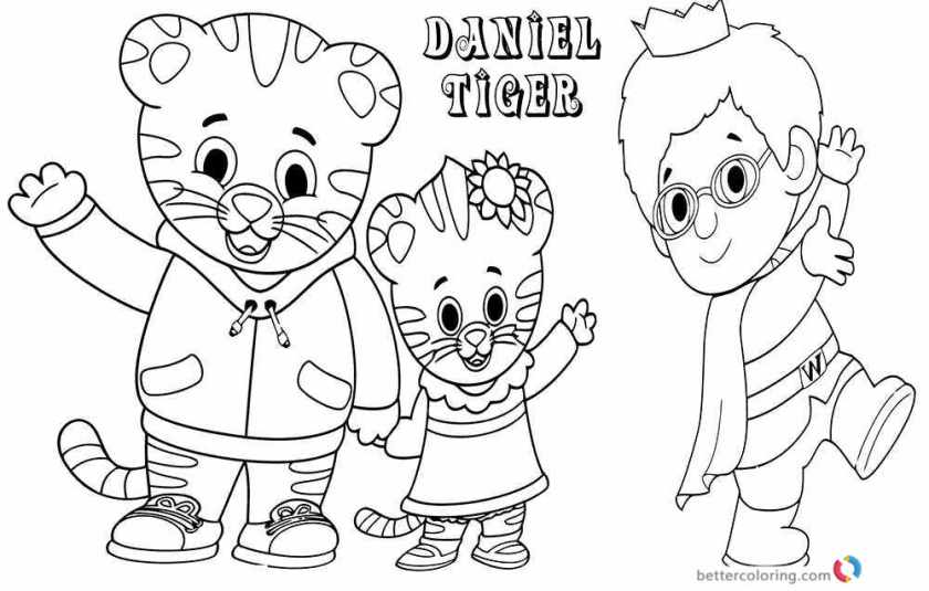 tiger daniel coloring pages  free printable coloring pages
