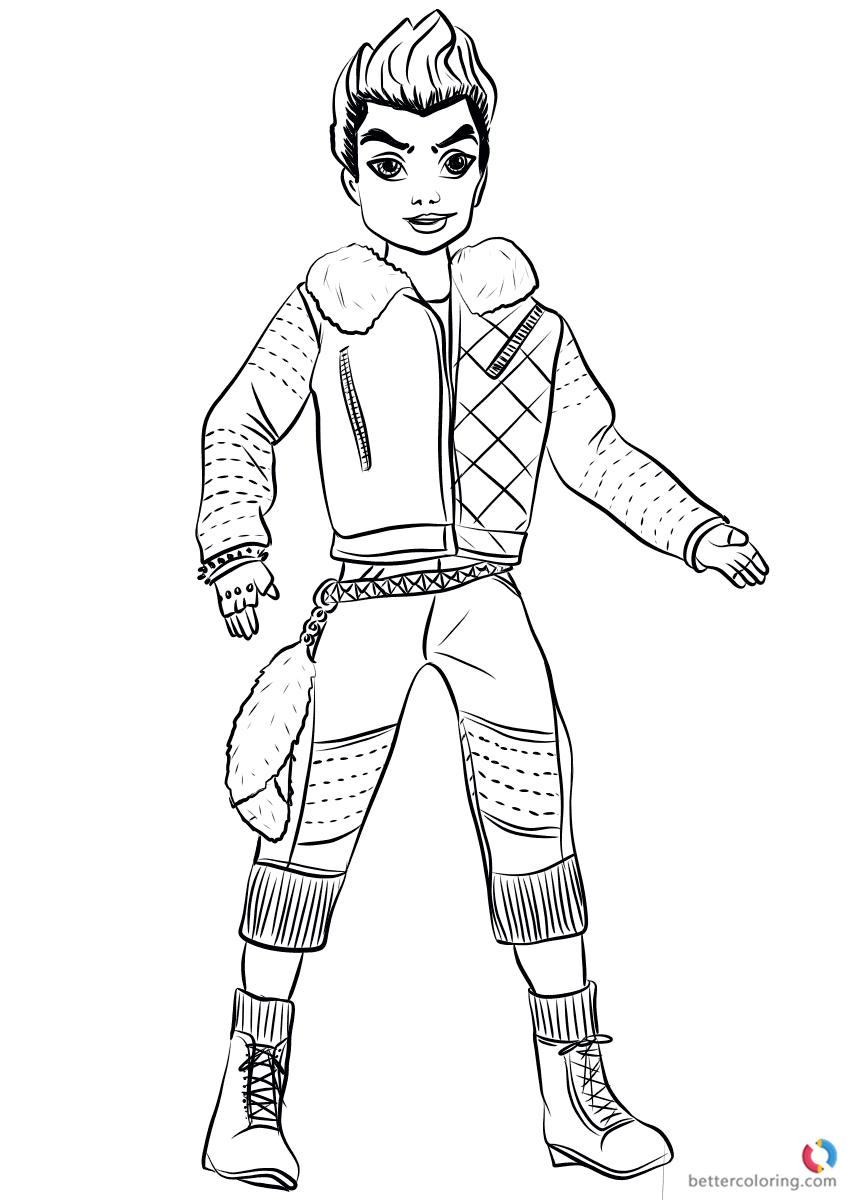 Wicked World Carlos From Descendants 2 Coloring Pages Printable