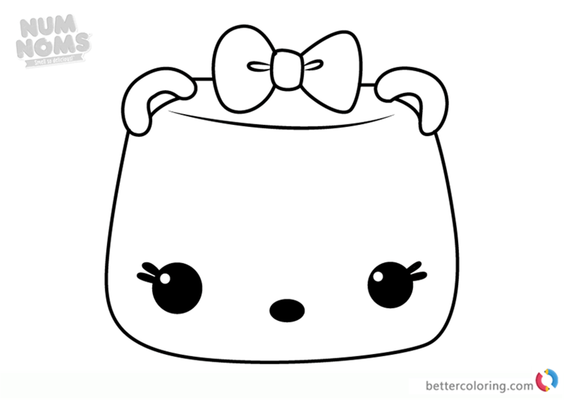 Mallow Erase It Num From Noms Coloring Pages Series 3