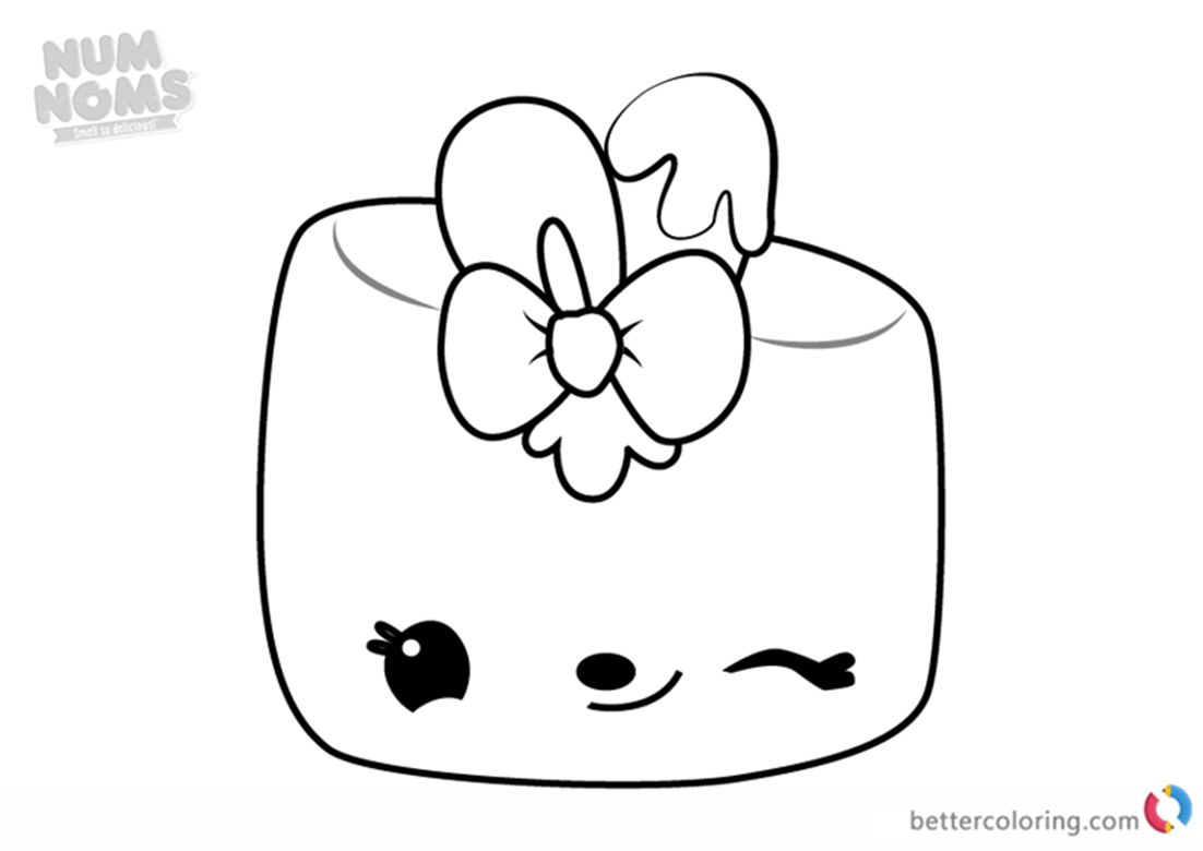 Maya Mallow From Num Noms Colouring Pages Series 3