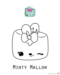 Minty Mallow Num Noms Coloring Pages Series 3 - Free ...