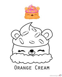 Num Noms Coloring Pages Series 1 Orange Cream - Free ...