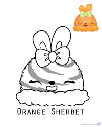 Num Noms Coloring Book Orange Sherbet - Free Printable ...