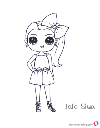 Cute Jojo Siwa Coloring Pages - Free Printable Coloring Pages